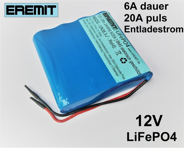 12V 2Ah LiFePO4 - EREMIT